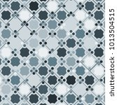 mosaic tiles background with... | Shutterstock .eps vector #1013504515