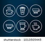 set of latte  dry cappuccino... | Shutterstock .eps vector #1013505445