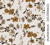 floral pattern in vector  | Shutterstock .eps vector #1013506621