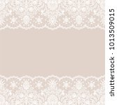 horizontally seamless beige... | Shutterstock . vector #1013509015