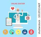 online doctor concept. old... | Shutterstock . vector #1013511469