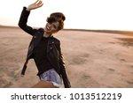 beautiful brunette sexy tourist ... | Shutterstock . vector #1013512219