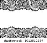 horizontally seamless white... | Shutterstock . vector #1013512339