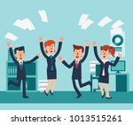 young and happy business people ... | Shutterstock .eps vector #1013515261