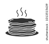 pancakes stack glyph icon.... | Shutterstock .eps vector #1013515639