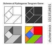 Set Of Pythagoras Tangram Game...