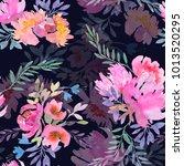 seamless summer pattern with... | Shutterstock . vector #1013520295