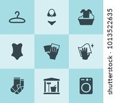 set of 9 cloth filled icons... | Shutterstock .eps vector #1013522635