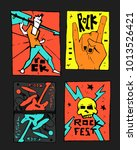rock  blues music festival... | Shutterstock .eps vector #1013526421