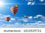 idyllic heavenly background  ... | Shutterstock . vector #1013529721