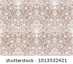 seamless beige lace background... | Shutterstock . vector #1013532421