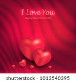 heart greeting card red curtain ... | Shutterstock .eps vector #1013540395