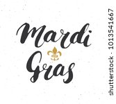 mardi gras calligraphic...   Shutterstock .eps vector #1013541667