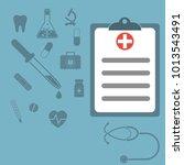 medical report  medical... | Shutterstock . vector #1013543491