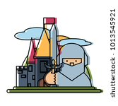 medieval castle icon image | Shutterstock .eps vector #1013545921