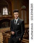 handsome guy wearing expensive... | Shutterstock . vector #1013548285