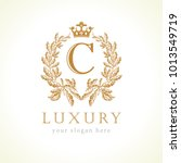 luxury c letter and crown... | Shutterstock .eps vector #1013549719