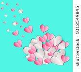 paper heart for valentantine's... | Shutterstock . vector #1013549845