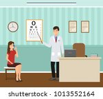 woman patient at a... | Shutterstock .eps vector #1013552164