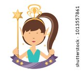 cartoon fairy girl icon | Shutterstock .eps vector #1013557861