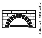 brick oven icon. simple... | Shutterstock .eps vector #1013559355