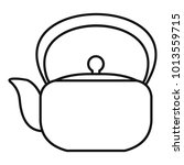 chinese teapot icon. outline...   Shutterstock .eps vector #1013559715