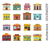 store facade front shop icons...   Shutterstock .eps vector #1013560255