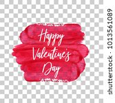 happy valentines day. red... | Shutterstock .eps vector #1013561089