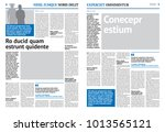 newspaper design template with... | Shutterstock .eps vector #1013565121