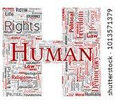vector conceptual human rights... | Shutterstock .eps vector #1013571379