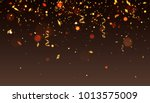 blurred background with golden... | Shutterstock .eps vector #1013575009