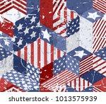 vector seamless watercolor usa... | Shutterstock .eps vector #1013575939