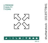 extend  resize line icon | Shutterstock .eps vector #1013577841