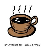 a cup of coffee | Shutterstock .eps vector #101357989