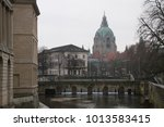 Stock photo view of hannover old historical german city 1013583415