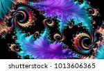 abstract computer generated... | Shutterstock . vector #1013606365