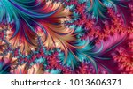abstract computer generated... | Shutterstock . vector #1013606371