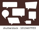 speech bubbles set of rectangle ... | Shutterstock .eps vector #1013607955