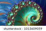 abstract computer generated... | Shutterstock . vector #1013609059