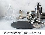 set of bar tools for cocktails  ... | Shutterstock . vector #1013609161