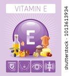 vitamin e tocopherol nutrition... | Shutterstock .eps vector #1013613934