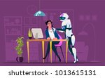 business characters in... | Shutterstock .eps vector #1013615131