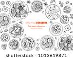 oriental sweets vector... | Shutterstock .eps vector #1013619871