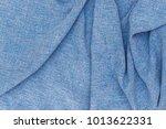 linen fabric denim blue... | Shutterstock . vector #1013622331