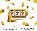 slot machine lucky sevens... | Shutterstock .eps vector #1013624671