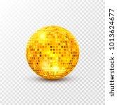 disco ball isolated... | Shutterstock .eps vector #1013624677