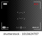 camera viewfinder with digital... | Shutterstock .eps vector #1013624707