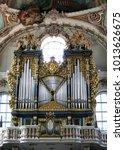 Church Organ. On The White...