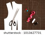 sewing clothes from costume... | Shutterstock . vector #1013627731