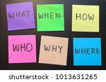 what  when  where  who  how ...   Shutterstock . vector #1013631265